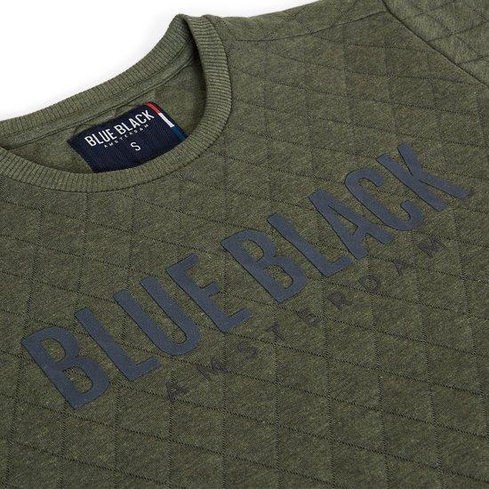 Blue Black Amsterdam Jongens Trui Mathijs 2.0 - Groen Melange - Maat 152