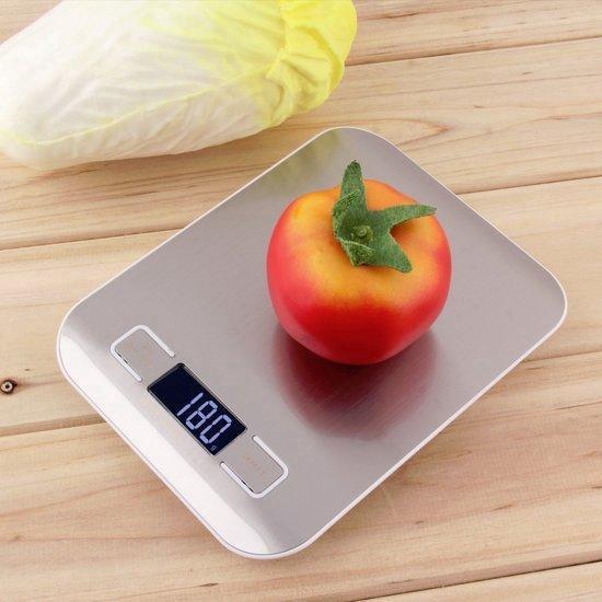 Afbeelding van Digitale Precisie Keukenweegschaal - Tot 5000 Gram ( 5kg ) - Zilver