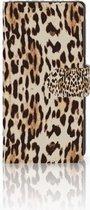 Sony Xperia XA1 Uniek Boekhoesje Leopard