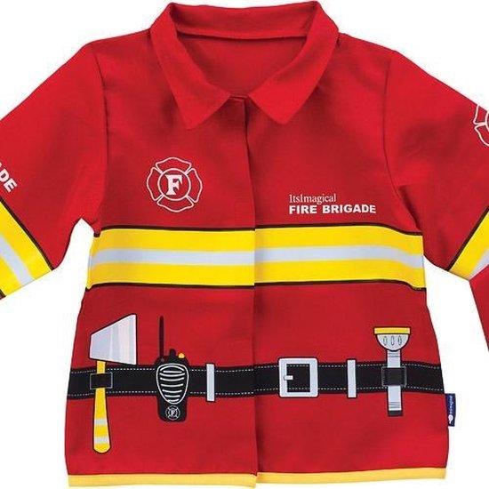 Brandweerjas met Lange Mouw - Imaginarium - Verkleedkleding Brandweer - 3-6 Jaar