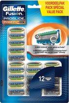 Gillette Fusion ProGlide Power Scheermesjes Navulling - 12 stuks