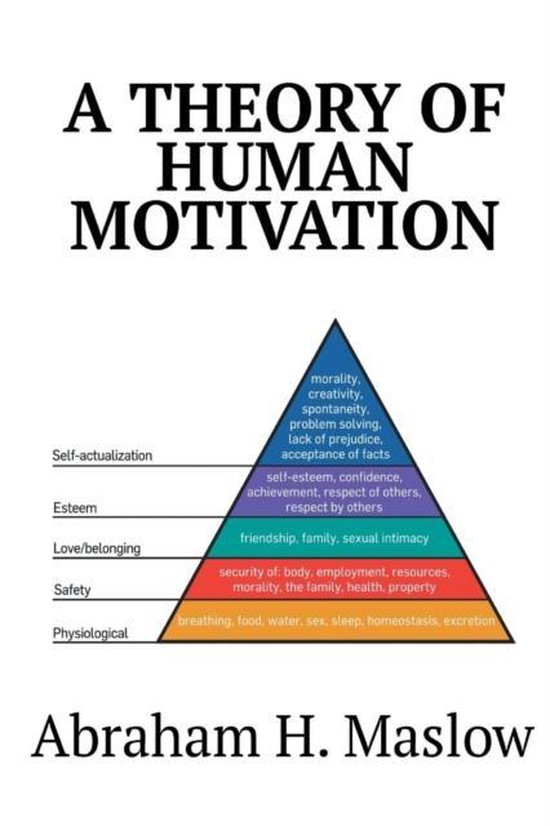 Boek cover A Theory of Human Motivation van Abraham H Maslow (Paperback)