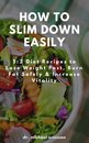 Omslag How to Slim Down Easily: 5:2 Diet Recipes to Lose Weight Fast, Burn Fat Safely & Increase Vitality