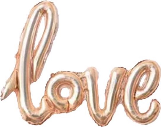 Folie ballon koper als tekst love 108*65.5 cm