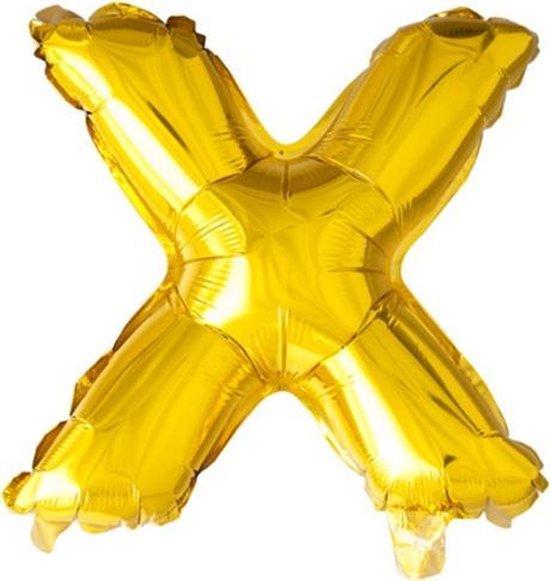 ballon - 100 cm - goud - letter - X