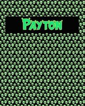 120 Page Handwriting Practice Book with Green Alien Cover Payton
