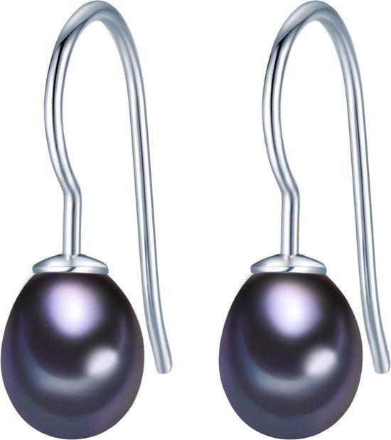 Valero Pearls Parel oorbellen Sterling zilver Gekweekte zoetwaterparels blauw