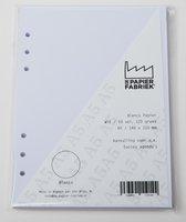 Aanvulling Blanco 120g/m²  Wit Notitiepapier voor A5 Succes, Filofax of Kalpa   Organizers 100 Pag