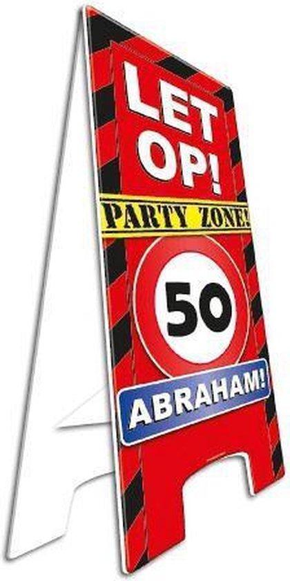 Waarschuwingsbord 50 jaar Abraham