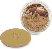 Heart & Home -  Geurwax -  Warme Appeltaart