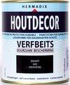 Hermadix Houtdecor Verfbeits Dekkend - 0,75 liter - 620 Zwart