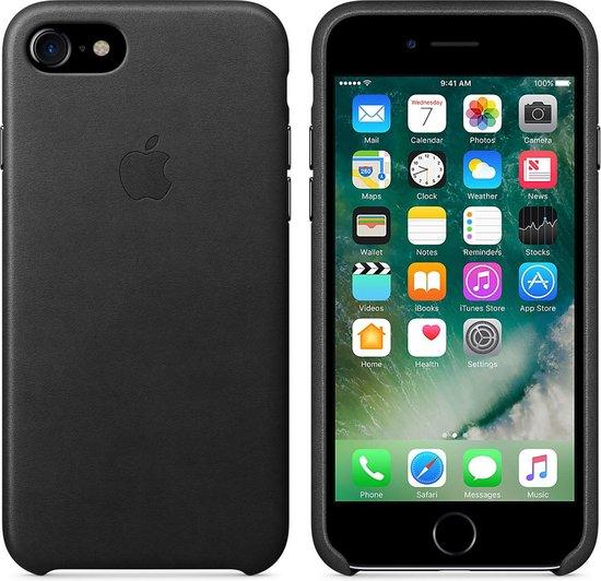 Apple Leren Hoesje voor iPhone 7/8/SE(2020) - Zwart