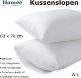 Homéé® Kussenslopen 100% Katoen - 60x70/17cm - set van 4 stuks - wit