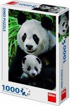 Puzzel panda familie