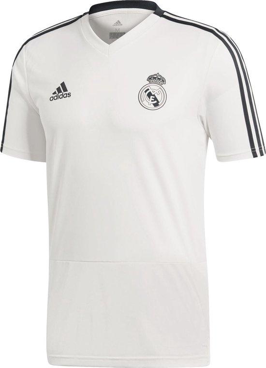 adidas Real Madrid TRG Jersey  Sportshirt - Maat 128  - Unisex - wit/zwart