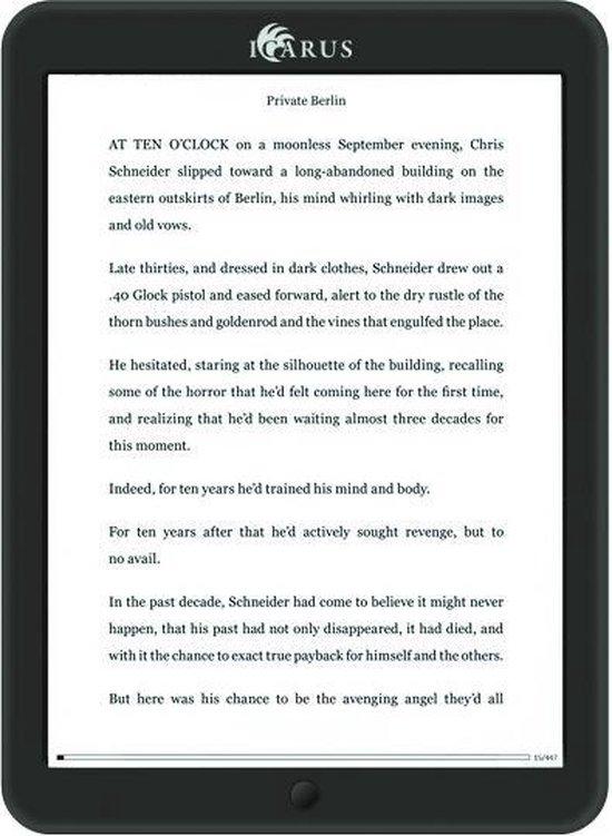 ICARUS Illumina XL 8i e-reader (E-Ink touchscreen frontlight Wi-Fi Android) - zwart