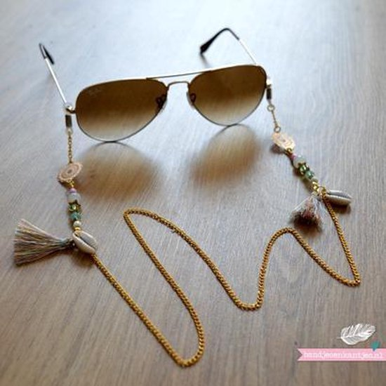 Zonnebril koordje ibiza trendy - goud - BandjesenKantjes