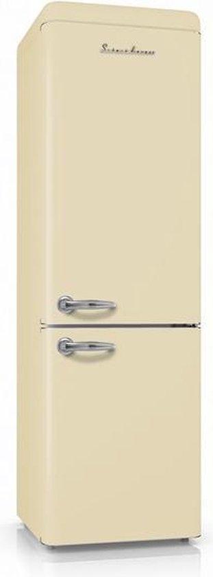 Koelkast: Schaub Lorenz Retro SL300B CB - Koel-vriescombinatie - Creme, van het merk Schaub Lorenz