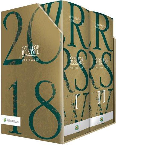 Boek cover Wolters Kluwer Collegebundel 2017/2018 Limited Edition van Henk Kummeling (Hardcover)