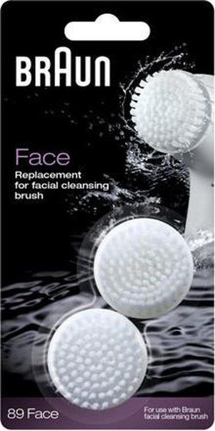 Braun Face 89 - Gezichtsreinigings Opzetborstel - 2 Stuks - Wit