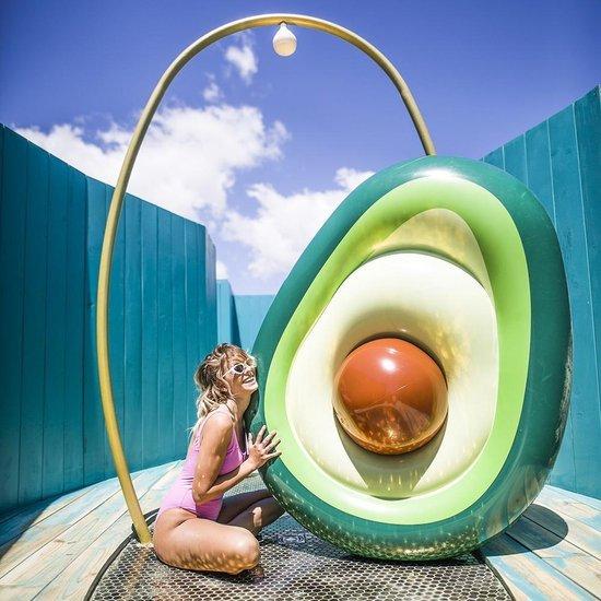 Swim Essentials Luchtbed Avocado Met Pit 180 X 120 Cm Groen