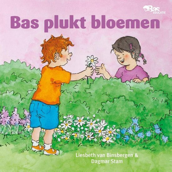 Bas plukt bloemen - Liesbeth van Binsbergen |