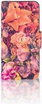 Samsung Galaxy S4 Mini i9190 Wallet Book Case Hoesje Design Bosje Bloemen