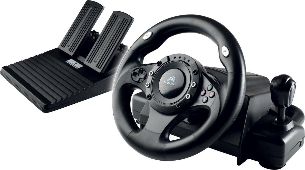 Tracer - Stuurwiel Drifter Playstation / PS2 / PS3 / PC - Met een racegame