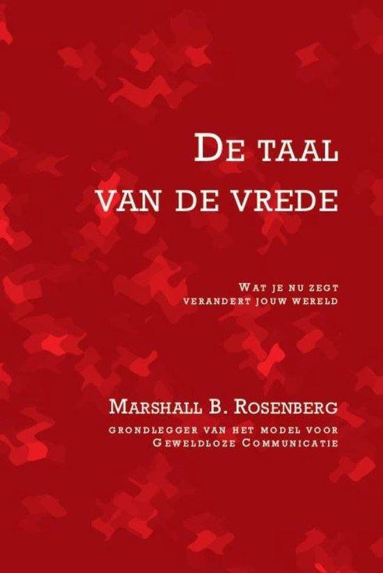Boek cover De taal van de vrede van Marshall B. Rosenberg (Onbekend)