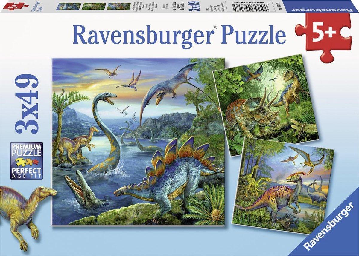 Ravensburger Dinosauriërs - 3x49 stukjes - kinderpuzzel
