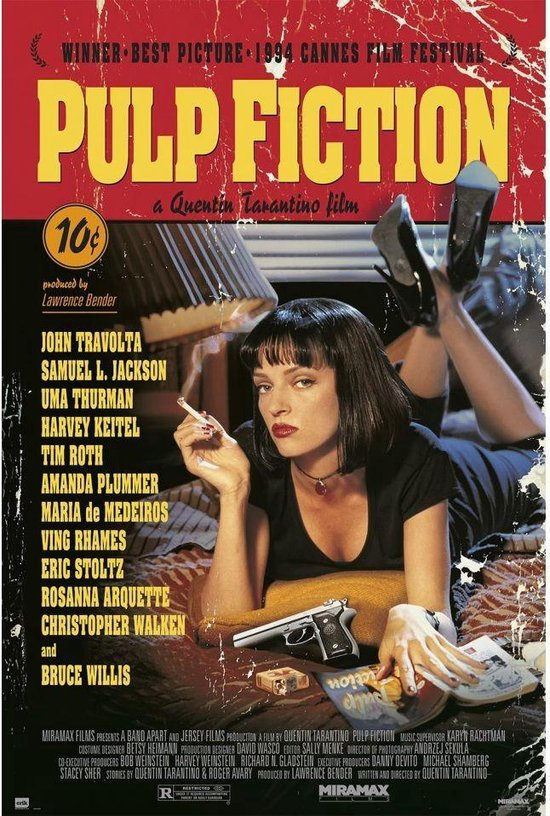 Pulp Fiction poster -Tarantino- 61x91.5 cm.
