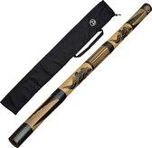 Australian Treasures bamboo didgeridoo 120cm inclusief nylon draaghoes | Didgeridoo voor beginners | Blaasinstrument voor kinderen en volwassenen