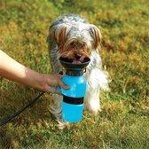 ProPet - Waterfles Hond - Blauw - Drinkfles hond onderweg - Drinkfles honden - Waterfles honden - Hond waterfles - Drinkbak hond - Drinkbak honden