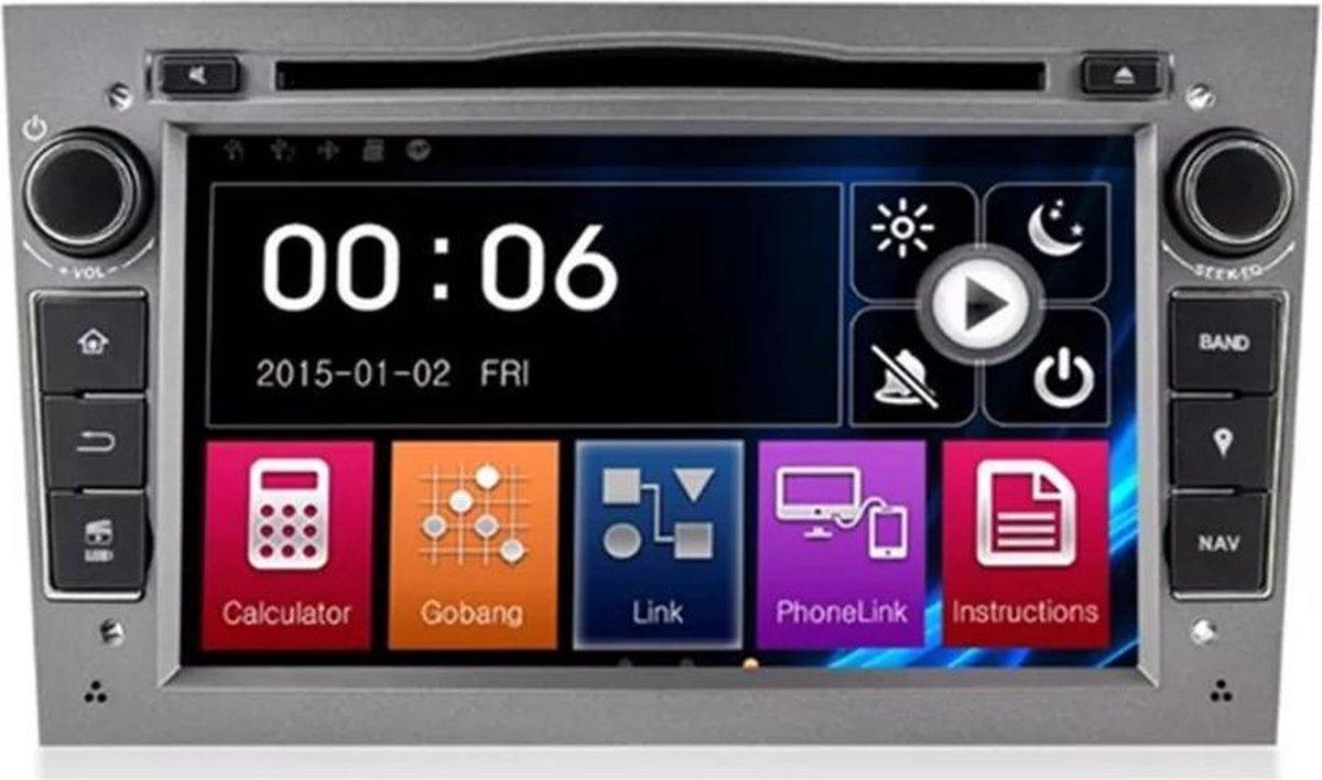 Voltario® opel autoradio navigatie / bluetooth/ carkit/streamen/ 7 inch scherm /kleur grijs