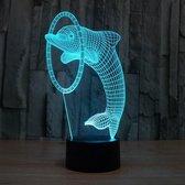 Hewec® Optische 3D illusie lamp Dolfijn