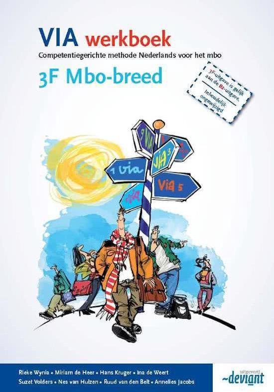 VIA - 3F mbo-breed - Werkboek - Rieke Wynia |