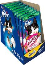 FELIX Party Mix Snacks - Picnic Mix- Kattensnack - 8 x 60 g