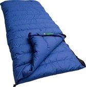 Lowland Outdoor donzen slaapzak - Dekenmodel slaapzak - Katoen - 220 x 200 cm - Blauw