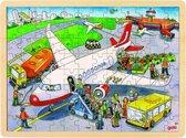 Puzzel Op de vlieghaven