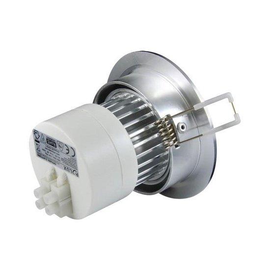 LED spot - compleet armatuur - RVS - rond geborsteld - koud wit