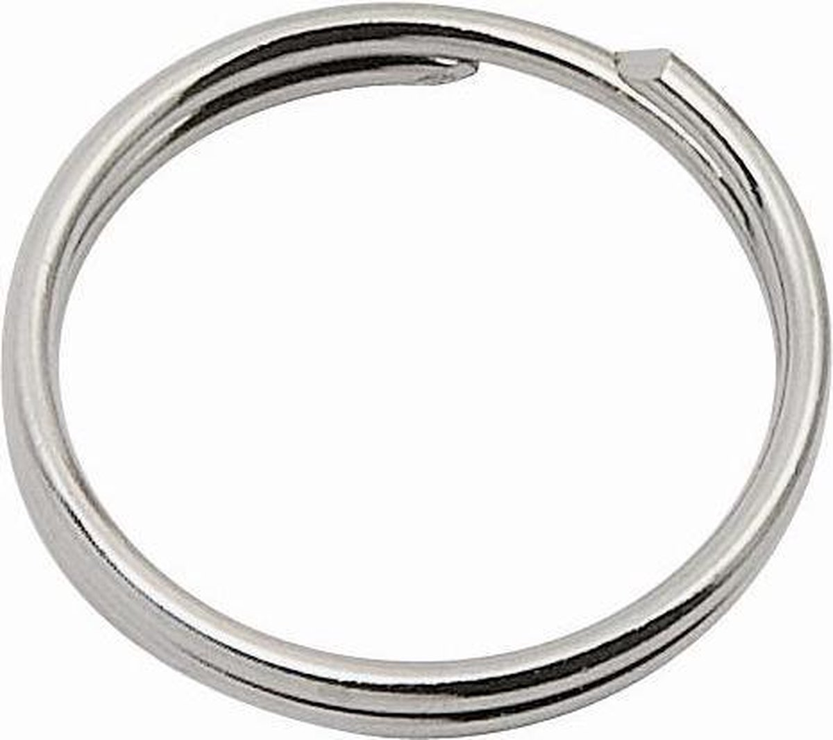 Staal vernikkelde sleutelringen / ringen 24mm - 20 stuks