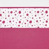 Meyco wieglaken Dots - 75x100 cm - bright pink
