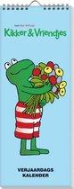 5 x Verjaardagskalender Kikker - Max Velthuys - Geen jaartal - Ophangbaar - Diverse Kleuren  - 13 x 33 x 0,6 cm