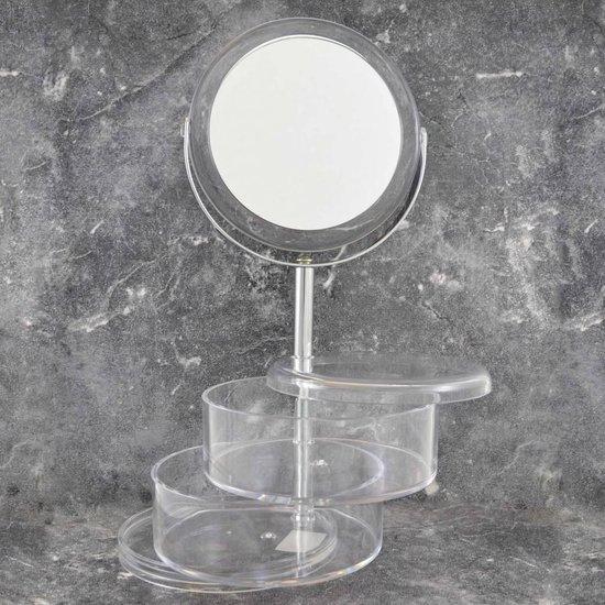 Gérard Brinard spiegel make-up spiegel acryl bakjes - 3x vergroting - Gerard Brinard