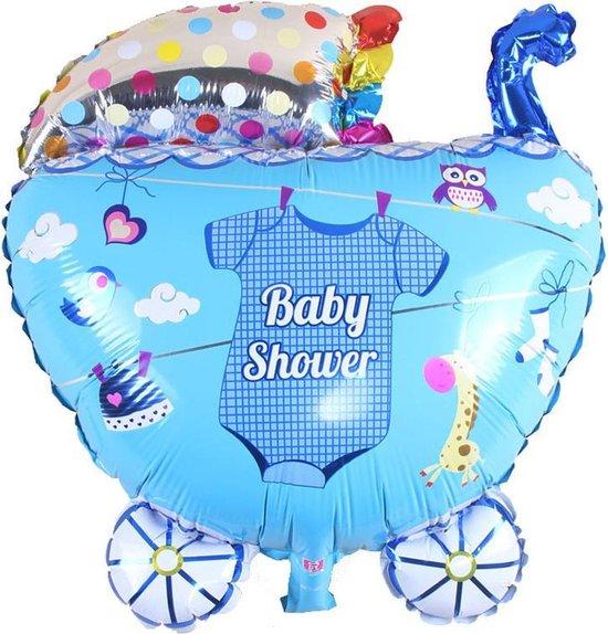 XL Folieballon Kinderwagen Jongen 65x55cm