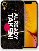 iPhone Xr TPU-siliconen Hoesje Design  Already Taken Black