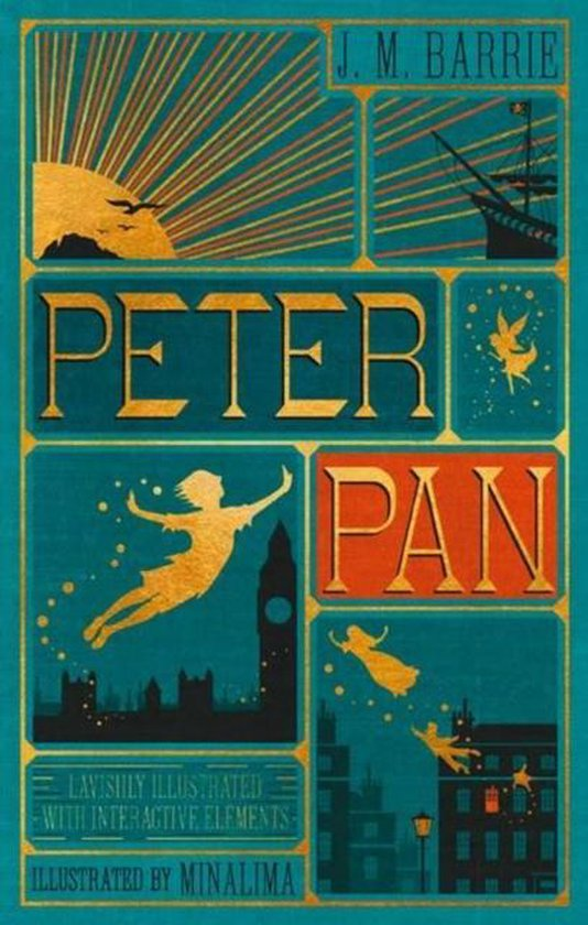 Boek cover Peter Pan (Illustrated with Interactive Elements) van J. M Barrie (Hardcover)