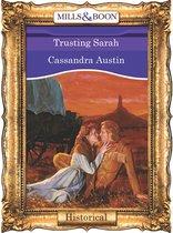 Omslag Trusting Sarah (Mills & Boon Vintage 90s Historical)
