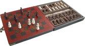 Schaakspel 'Terracotta Army' Mini Zwart