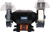 FERM Tafelslijpmachine – 250W – stofdichte schakelaar – vonkvangers – Incl. 2 slijpschijven